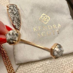 Kendra Scott Rose Gold & Granite Cuff bracelet